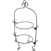 Double Plate Stand Wrought Iron