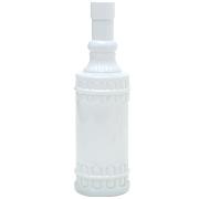 Embossed Glass Vase Tall White