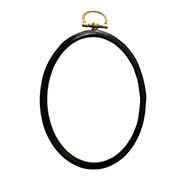 Embroidery Hoop Oval Mini Black
