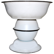 Enamel Tin Stacked Bowl High