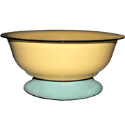 Enamel Tin Stacked Bowl Low