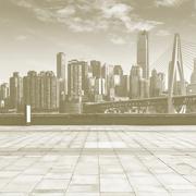 Fabri Frame Banner Sepia Skyline