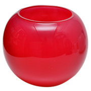 Fish Bowl Vase Red