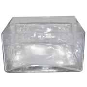 Flat Glass Cube Vase 20 x 20 x 11h