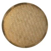 Flat Round Grass Basket