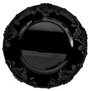 Floral Under Plate Black
