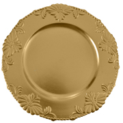 Floral Under Plate Gold