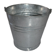 Galvanised Bucket Medium