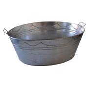 Galvanised Steel Oval Basin Small