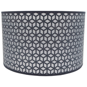 Geo Lattice Lampshade Grey