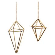 Geometric Hanging Planters Gold