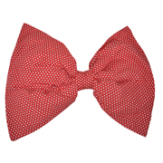 Giant Red and White Polka Dot Bow