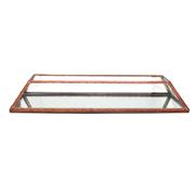 Glass and Copper Terranium Flat Rectangle