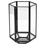 Glass and Pewter Terraniuim Hexagon