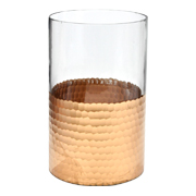Glass and Rose Gold Hurricane Large