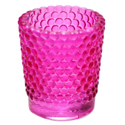 Glass Bubble Tealight Votive Small Pink