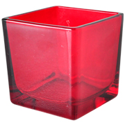 Glass Cube Red