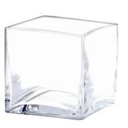 Glass Cube Vase 10cm
