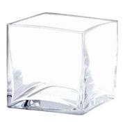 Glass Cube Vase 12cm