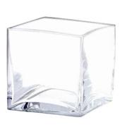 Glass Cube Vase 15cm