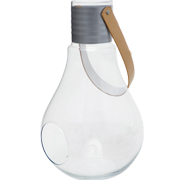 Glass Light Bulb Vase Clear