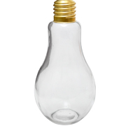 Glass Light Bulb Vase Clear Medium