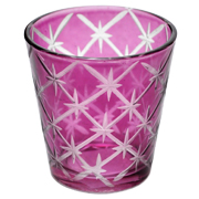 Glass Tealight Votive Small Purple