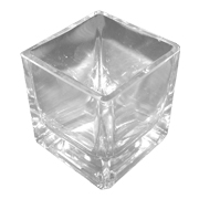 Glass Votive Mini Cube