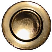 Gold Melamine Under Plate Beaded