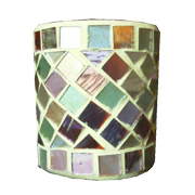 Gold Mosaic Votive Straight