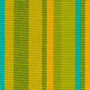 Green, Yellow and Turquoise Weave Runner