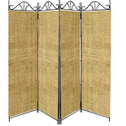 Hessian Room Divider Covers Stone