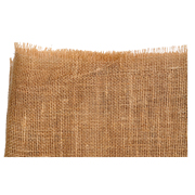 Hessian Runner Rough Edge Wide