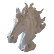 Horse Head Sculpture White