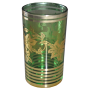 Indian Tumbler D Green and Gold