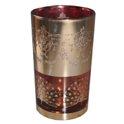 Indian Tumbler A Red and Gold