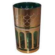Indian Tumbler C Green and Gold