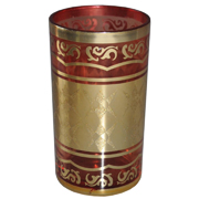Indian Tumbler E Red and Gold