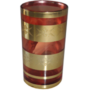 Indian Tumbler G Red and Gold