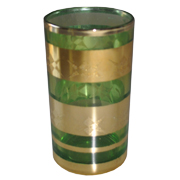 Indian Tumbler I Green and Gold