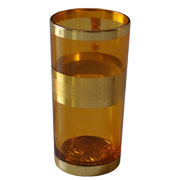 Indian Tumbler J Amber and Gold