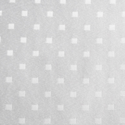 Jacquard Tablecloth Small Block White