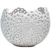 Lace Vase Round White