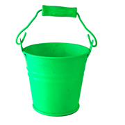 Lime Green Tin Bucket Mini Size