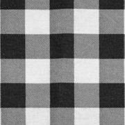 Linen Napkin Black Gingham