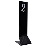 Long Straight Plastic Table Number Stand