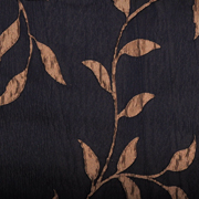 Luxury Table Cloth Leaf Black and Gold
