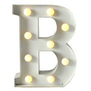 Marquee Letter B