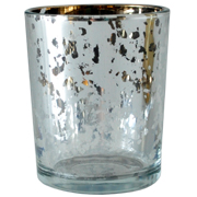 Mercury Glass Cylinder Votive Silver