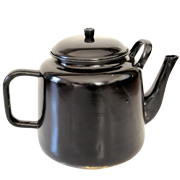 Metal African Teapot Black